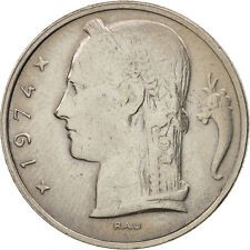 [#408028] Belgium, 5 Francs, 5 Frank, 1974, AU(50-53), Copper-nickel, KM:134.1