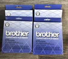 Lot Of 4 Genuine Oem Brother 1030 Correctable Film Typewriter Ribbon Black