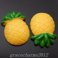22pcs Resin Pineapple Cameo Cabochons Decor Flatbacks Crafts Jewelry 39826