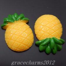 22pcs Resin Pineapple Cameo Cabochons Decor Flatbacks Crafts Jewelry 39826
