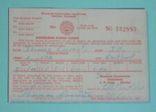 1965 Wisconsin Conservation Commission Rockford Non Resident Fishing License
