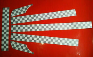 Vespa PX Two Colour 2 Tone Checkered Vinyl Sticker Kit Graphics Decals Scooter