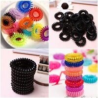 10pcs Spiral Hair Elastics Bobbles Ties Head Bands Accessory Hair Bands