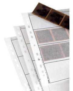 Hama 120  25x Negative Strip Sleeves Storage Ring Binder Pages - translucent