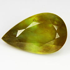 8.81Cts Amazing Natural Yellow Sapphire Pear Shape Loose Gemstone Ref VDO
