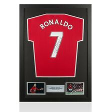 Framed Cristiano Ronaldo Signed Manchester United Shirt - Fan Style Number 7