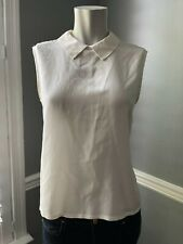 Equipment Elliot Silk Button Back Top in Ivory - Size XS