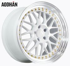 18x9.5 Aodhan AH02 5x114.3 +30 White Rims Aggressive Fits Accord Rsx Tsx Tiburon