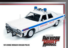 1974 Dodge Monaco 4 door Chicago Police 1:18 Auto World 987