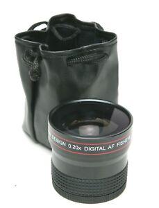 Precision Design 0.20x Digital AF Fisheye Full Frame Auxiliary Lens 58mm Thread.