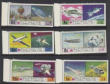 SPACE:1970 YEMEN Manned Flight including Spacecraft  PERF set Mi 1167A-1172A MNH