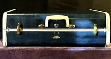 "1950s Samsonite Suitcase, 21"" X 13.5"" X 8"", Marble Blue, Excellent Condition"