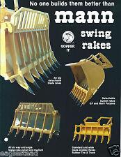 Equipment Brochure - Mann - Swing Bucket Blade Rake - 5 items - c1982 (E3049)