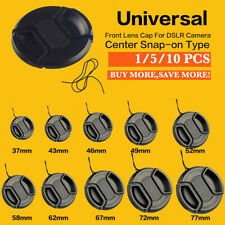 5/10PCS Center pinch snap on Front Lens Cap Cover for Canon Nikon Sony Lot