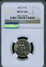 2012-P Jefferson Nickel MAC Grade MS67 6FS by NGC ..