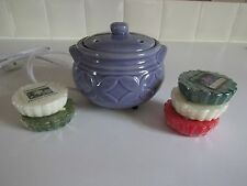 Yankee Candle ~ Electric Wax Tart Warmer w/5 Tarts ~ Lavender Purple  Excellent!