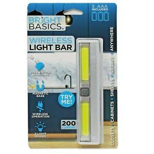 Bright Basics™ Wireless Light Bar Cabinet Counter Lights Battery Powered Sticky
