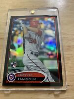 2012 Topps Chrome Bryce Harper Black Refractor RC 65/100 Nationals Phillies