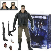 "NECA Terminator T-800 Ultimate 7"" Action Figure Police Station Assault Jacket"