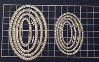Brand New 8 Stitched Edge Nesting Oval Framelit Metal Die Cutter Uk Seller