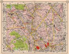 N LONDON. Kentish Town Holloway Barnsbury Camden Town St John's Wood 1953 map