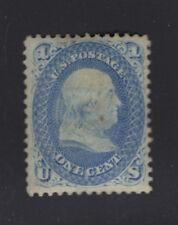 US #63a Ultramarine 1861 1c Franklin - Mint, Original Gum