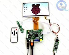 "Diy Monitor for Raspberry Pi (HDMI+VGA+2AV)Lcd Driver+7"" AT070TN94+Touch Screen"