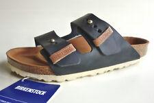 new BIRKENSTOCK oiled Leather Sandals ARIZONA Urban EXQ Black EU40 US9-9.5 UK7 R
