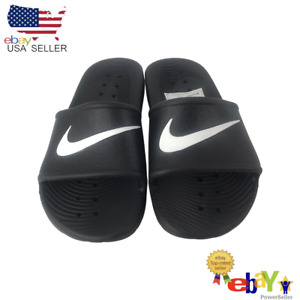 Nike Kawa Shower (GS/PS) Black and White Size 5Y for Kids Brand Kid BQ6831 001.