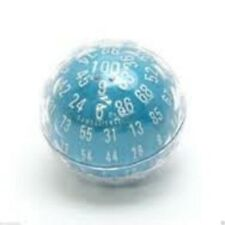 ZOCCHIHEDRON - D100 - 100 SIDED DIE, BLUE WITH WHITE NUMBERS, GAMESCIENCE DICE