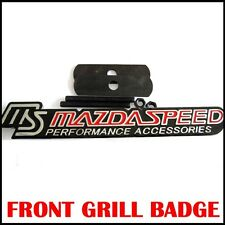 Metal MAZDASPEED  Car Racing Sports Hood Front Grill Badge Emblem For MAZDA