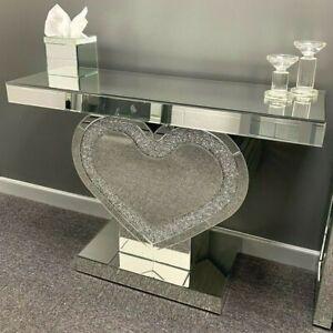 Diamond Crush Heart Console Table