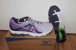 Mizuno Wave Elevation Ladies Run Shoe Purple White all Sizes New with Box