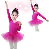 Toddler Kids Girls Camisole Ballet Dance Wear Dress Leotard Tutu Skirts Clothes