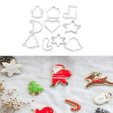 10 x Navidad cortador galleta galleta molde azúcar fondant decoración