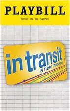 In Transit Color Playbill James Snyder  Justin Guarini Erin Mackey Colin Hanlon