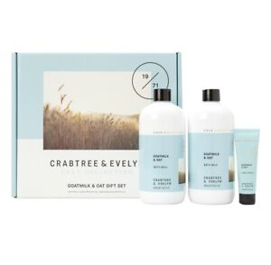 Crabtree & Evelyn Goatmilk & Oat Bath Milk And Hand Cream Set NO BOX