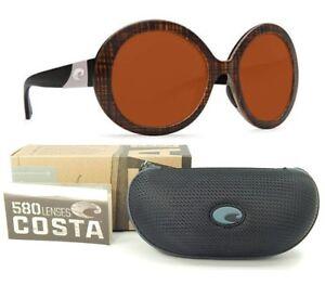 COSTA DEL MAR Isla Womens Sunglasses Scotch Black Temple Frame Copper 580P LENS