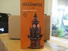 dept 56 halloween clock tower 4020233 Mint in orig box! Retired 2011