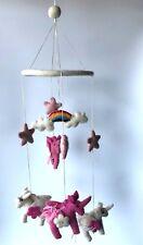 Children's room decoration handcrafted felt hanging and mobile- Unicorn/ Alacorn