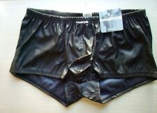 Manstore Mirco Pant Boxershorts Gr. XL/7 Minipant Hipster Lederimitat schwarz
