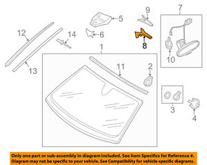 AUDI OEM 13-18 A6 Quattro Windshield-Mirror Inside Lower Cover 8T0857593ABEP5