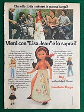 VV51 Pubblicità Advertising Clipping 19x13 cm (1975) LISA JEAN BAMBOLA FURGA