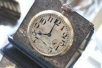 Shreve & Co Waltham Antique Sterling Silver 100 8 Day Travel Clock