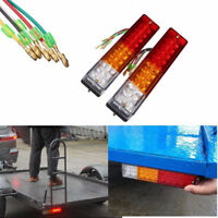 2x LED Stop Rear Reverse Side Light Indicator Lamp Car Truck Trailer Caravan 12V