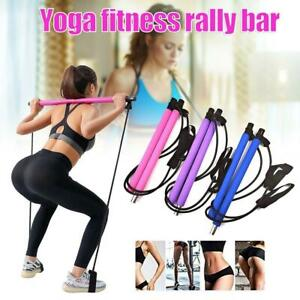Portable Pilates Stretch Rope Gymstick Yoga Exercise Pilates Trainer Tool NICE