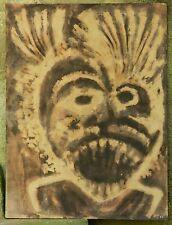 """Peinture haïtienne : Jean-Claude GAROUTE dit TIGA (1935-2006) - """"Vaudou"""" 45x60cm"""