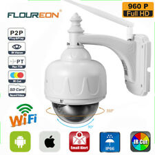 FLOUREON Outdoor PT 960P Wireless WiFi IP Dome Camera CCTV Security IR Webcam SD