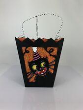 "DEPT 56 GLITTERVILLE Halloween Itchys Cat Hanging FIGURE Resin 10.25"""