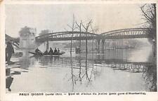 CPA 75 PARIS INONDE 1910 QUAI ET VIADUC DU METRO